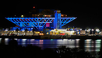 St. Petersburg Pier Holiday Colors at Night from the Vinoy Hotel. Image taken with a Nikon D4 camera and 70-300 mm VR lens (ISO 100, 300 mm, f/16, 10 sec).