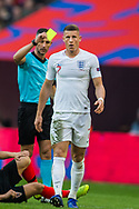 Ross Barkley (England) awarded a yellow card by Tasos Sidiropoulos, Referee during the UEFA Nations League match between England and Croatia at Wembley Stadium, London, England on 18 November 2018.