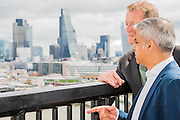 London Mayor Sadiq Khan is shown the viewing level by Tate Director Nicholas Serota - The new Tate Modern will open to the public on Friday 17 June. The new Switch House building is designed by architects Herzog & de Meuron, who also designed the original conversion of the Bankside Power Station in 2000.