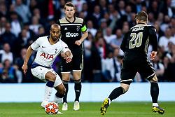 Lucas of Tottenham Hotspur runs with the ball - Mandatory by-line: Robbie Stephenson/JMP - 30/04/2019 - FOOTBALL - Tottenham Hotspur Stadium - London, England - Tottenham Hotspur v Ajax - UEFA Champions League Semi-Final 1st Leg