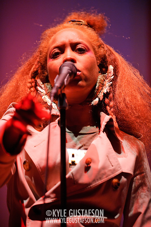 Washington, D.C. - May 28, 2010:  Erykah Badu plays the first of two shows at DAR Constituion Hall.  She is currently touring behind her album New Amerykah Part Two (Return of the Ankh) . (Photo by Kyle Gustafson/For The Washington Post)
