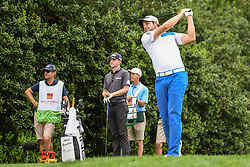 May 5, 2018 - Charlotte, NC, U.S. - CHARLOTTE, NC - MAY 05: Peter Ulhein tees off during the 3rd round of the Wells Fargo Championship on May 05, 2018 at Quail Hollow Club in Charlotte, NC. (Photo by William Howard/Icon Sportswire) (Credit Image: © William Howard/Icon SMI via ZUMA Press)