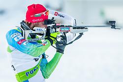 Klemen Bauer of Slovenia during Slovenian National Cup in Biathlon, on December 30, 2017 in Rudno polje, Pokljuka, Slovenia. Photo by Ziga Zupan / Sportida