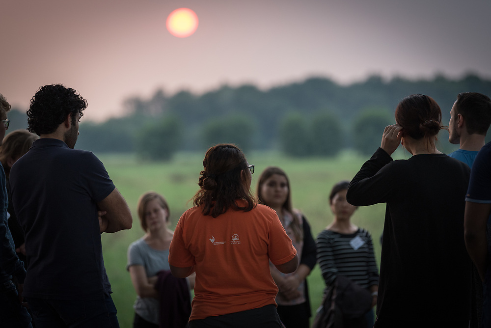 """21 August 2018, De Glind, Netherlands: Through a Pilgrim Walk, youth participants explore what it means to be on a Pilgrimage of Justice and Peace. What are the sources of inspiration, the barriers to be overcome? """"On the Moveî is the theme as 12 Dutch and 12 international youth gather for a Youth Pilgrimage in the Netherlands on 21-23 August. Gathering as part of the celebrations of the World Council of Churches 70th anniversary in 2018, the youth spend three days together to explore what it means to be young pilgrims in the ecumenical movement today."""