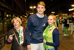 Luka Doncic of Slovenia at Fans' reception of Team Slovenia after the basketball match between National Teams of Slovenia and Greece at Day 4 of the FIBA EuroBasket 2017  in Teerenpeli bar, Helsinki, Finland on September 3, 2017. Photo by Vid Ponikvar / Sportida