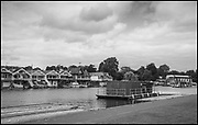 Henley-On-Thames, Berkshire, UK., 27.08.2021, Friday,  Regatta Course,  General view of being Struck as the course is dismantled,  Striking,   [ Mandatory Credit © Peter Spurrier/Intersport Images],