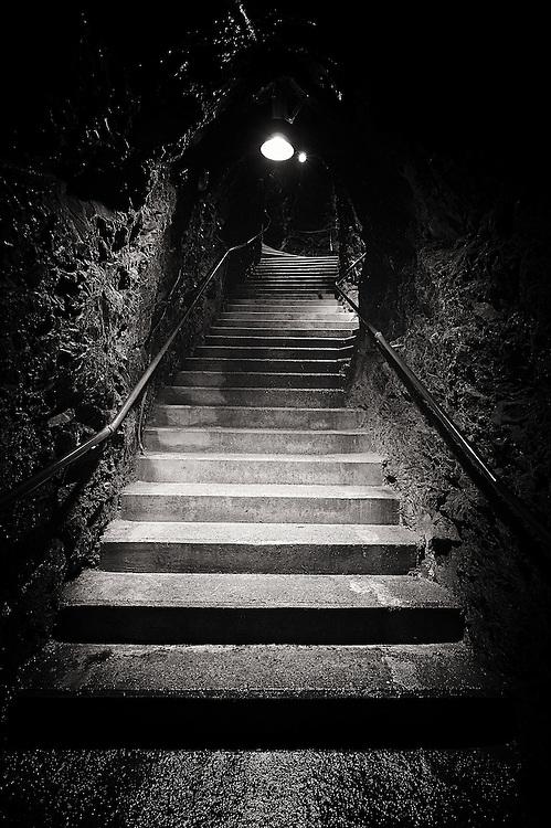 Switzerland - Stairs inside the mountain