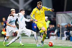 Milivoje Novakovic (SLO) and Andriy Yarmolenko (UKR) during the UEFA EURO 2016 Play-off for Final Tournament, Second leg between Slovenia and Ukraine, on November 17, 2015 in Stadium Ljudski vrt, Maribor, Slovenia. Photo by Urban Urbanc / Sportida