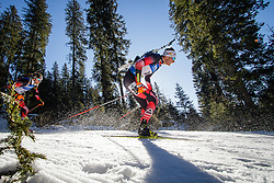 Julian Eberhard (AUT) during Men 15 km Mass Start at day 4 of IBU Biathlon World Cup 2015/16 Pokljuka, on December 20, 2015 in Rudno polje, Pokljuka, Slovenia. Photo by Ziga Zupan / Sportida