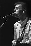 Nederland, Nijmegen, 3-12-1986Singer songwriter John Hiatt in de Lindenberg tgv lustrum studentenvereniging Diogenes.Foto: Flip Franssen/Hollandse Hoogte