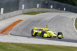 June 22, 2018 - Elkhart Lake, Wisconsin, United States of America - SPENCER PIGOT (21) of the United State takes to the track to practice for the KOHLER Grand Prix at Road America in Elkhart Lake, Wisconsin. (Credit Image: © Justin R. Noe Asp Inc/ASP via ZUMA Wire)