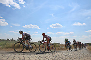 Geraint Thomas (GBR - Team Sky), John Degenkolb (GER - Trek - Segafredo) during the 105th Tour de France 2018, Stage 9, Arras Citadelle - Roubaix (156,5km) on July 15th, 2018 - Photo Ilario Biondi / BettiniPhoto / ProSportsImages / DPPI