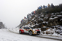 MOTORSPORT - WORLD RALLY CAR CHAMPIONSHIP 2014 - MONTE CARLO RALLY  - MONACO / GAP / MONACO 16 TO 19/01/2014 - PHOTO: BASTIEN BAUDIN / DPPI<br /> 04	CITROEN TOTAL ABU DHABI WRT (FRA) / OSTBERG MADS ANDERSSON JONAS - (NOR SWE) / CITROEN DS3 - ACTION