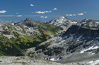 Marriott Basin, Mount Rohr is the highest peak in the distance, Coast Mountains British Columbia