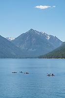 Kayakers on Wallowa Lake Joseph, Oregon