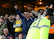 Arsenal's fans call for Arsene Wenger to resign during the Premier League match at Selhurst Park Stadium, London. Picture date: April 10th, 2017. Pic credit should read: David Klein/Sportimage