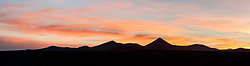 Panorama sunset above Seco Creek, Ladder Ranch, west of Truth or Consequences, New Mexico, USA.