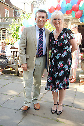 ROBERT & BABS POWELL at the Lord's Taverners Diamond Jubilee Garden Party held in College Gardens, Westminster Abbey, London on 8th July 2010.