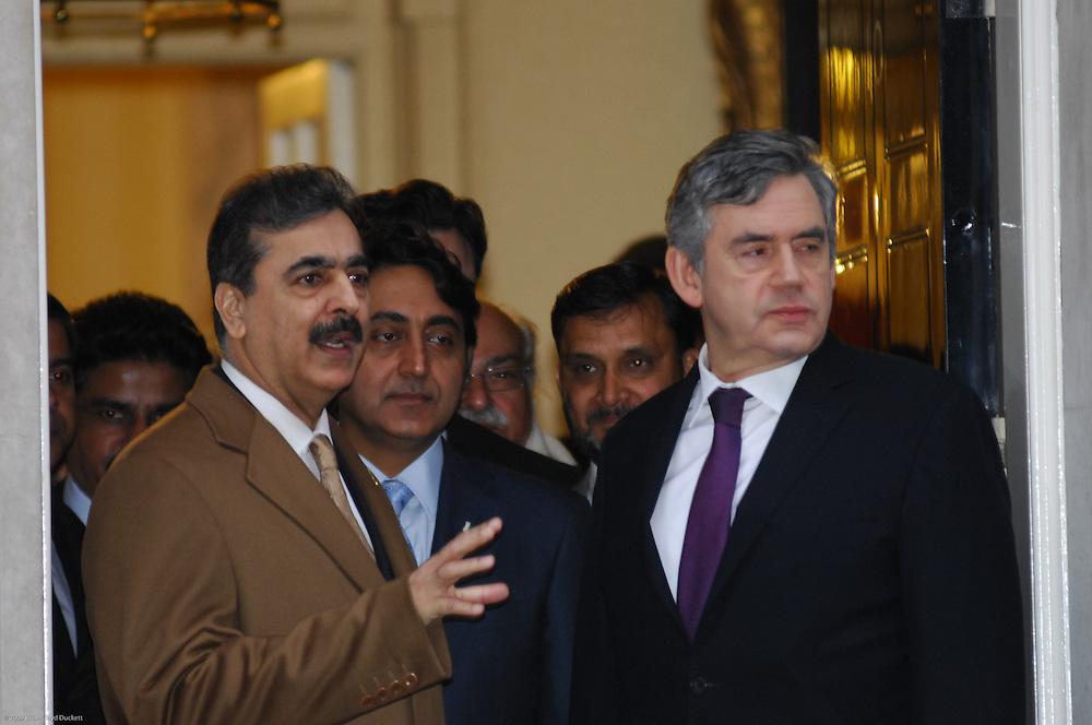 Gordon Brown and Yousuf Raza Gilani