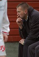 Trener Hans Olav Frette, Bryne. <br /> <br /> Fotball: Skeid - Bryne 4-2. 1. divisjon 2004. 20. juni 2004. (Foto: Peter Tubaas/Digitalsport)