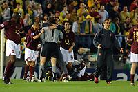 Villarreal vs Arsenal Champios league semifinals match at Villarreal the Arsenal pass to the final.- Arsenal player celebrating the ticket to Paris