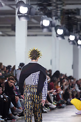 June 8, 2019 - London, england, United Kingdom - A model presents a new Spring/Summer 2020 Liam Hodges collection during London Fashion Weak Men's in the old Truman's Brewery show space in London on the June 8, 2019. (Credit Image: © Dominika Zarzycka/NurPhoto via ZUMA Press)