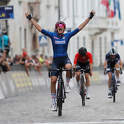 TRENTO (ITA): CYCLING: SEPTEMBER 10th:<br /> Italian cyclist Silvia Zanardi won the women's under-23 title in Trento. She stayed ahead of Hungary's Kata Blanka Vas and France's Evita Muzic in the final.