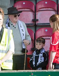 Shire fans at the end. Edinburgh City became the first club to be promoted to Scottish League Two. East Stirling 0 v 1 Edinburgh City, League play-off game.