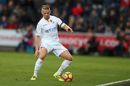 Stephen Kingsley of Swansea city in action.Premier league match, Swansea city v Manchester Utd at the Liberty Stadium in Swansea, South Wales on Sunday 6th November 2016.<br /> pic by  Andrew Orchard, Andrew Orchard sports photography.