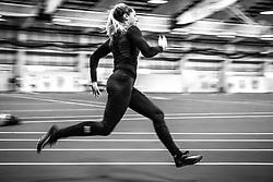 Kate Hall training at SMU Kate Hall workout at SMU indoor track