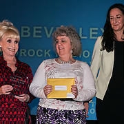 London, UK. 31th October, 2016. Laura Brown,Dame Barbara Windsor presents the Long Service awards to Beverly Stroud, Havering at Team London Awards at City Hall, London,UK. Photo by See Li