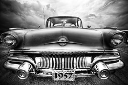 1957 green Pontiac at the Elmhurst Car Show