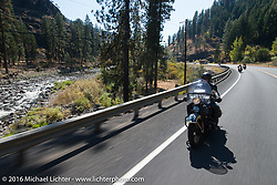 Ken McManus riding his 1936 Harley-Davidson Knucklehead  during Stage 14 - (284 miles) of the Motorcycle Cannonball Cross-Country Endurance Run, which on this day ran from Meridian to Lewiston, Idaho, USA. Friday, September 19, 2014.  Photography ©2014 Michael Lichter.