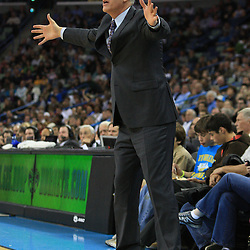 06 February 2009: Toronto Raptors coach Jay Triano argues a call during a NBA game between the New Orleans Hornets and the Toronto Raptors at the New Orleans Arena in New Orleans, LA.