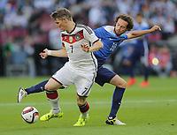 BILDET INNGÅR IKKE I FASTAVTALER OG MÅ KJØPES SEPARAT<br /> <br /> Fotball<br /> Privatlandskamp<br /> 10.06.2015<br /> Tyskland v USA 1:2<br /> Foto: imago/Digitalsport<br /> NORWAY ONLY<br /> <br /> Mikkel Mix Diskerud<br /> Bastian Schweinsteiger (Deutschland), Mix Diskerud (USA)