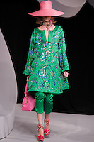 Viviane Orth walks the runway  at the Christian Dior Cruise Collection 2008 Fashion Show