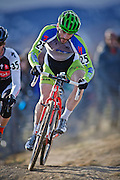 SHOT 1/12/14 4:10:10 PM - Kevin Bradford-Parish (#25) of Spokane, Wa. competes in the Men's Elite race at the 2014 USA Cycling Cyclo-Cross National Championships at Valmont Bike Park in Boulder, Co.  (Photo by Marc Piscotty / © 2014)