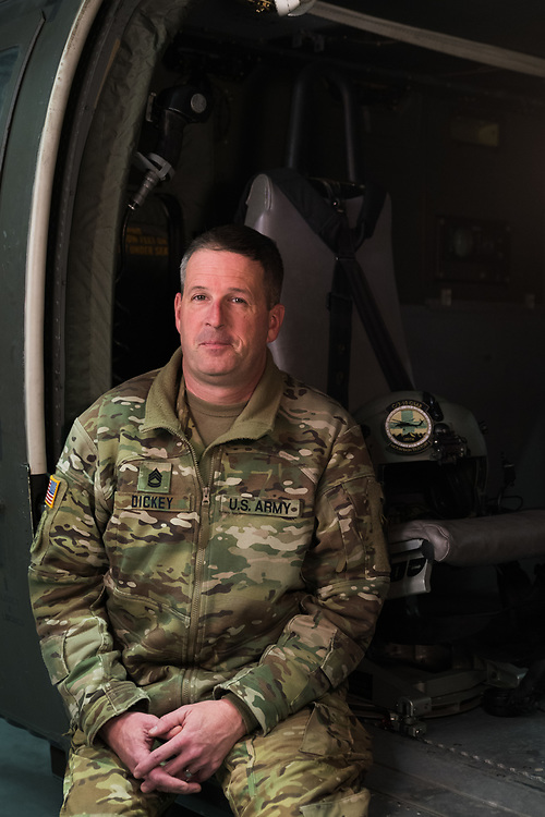 Sgt. 1st Class Mark Dickey, Platoon Sergeant and Flight Paramedic with C Company, 3-10 GSAB, 10th Mountain Division
