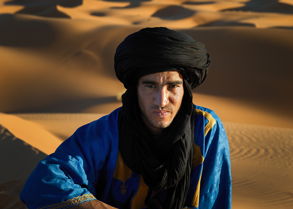 Tuareg man in Sahara Desert