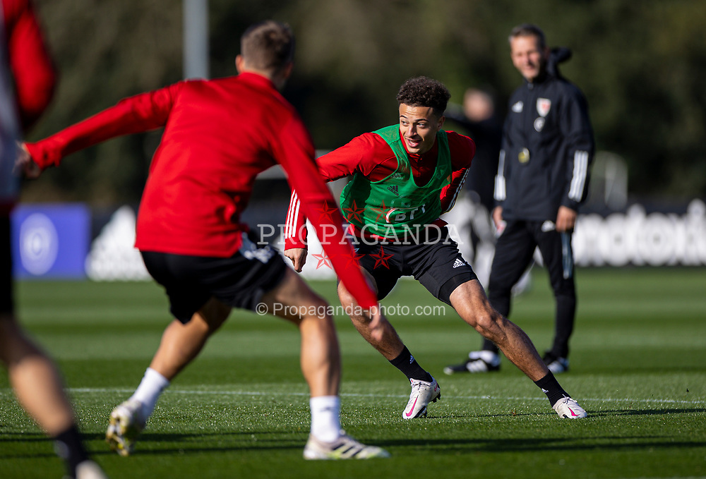 CARDIFF, WALES - Wednesday, October 7, 2020: Wales' Ethan Ampadu during a training session at the Vale Resort ahead of the International Friendly match against England. (Pic by David Rawcliffe/Propaganda)