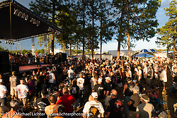 Near the stage Saturday at the Smokeout. Rockingham, NC. USA. June 20, 2015.  Photography ©2015 Michael Lichter.