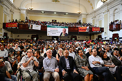 JOHANNESBURG, April 1, 2017  Graca Machel (4th R, front),?widow of late former South Africa's President Nelson Mandela, Pravin Gordhan (5th R, front), former South African finance minister, and other people participate in a memorial service for Ahmed Kathrada at Johannesburg City Hall,?South?Africa, on April 1, 2017. Ahmed Kathrada Foundation, Nelson Mandela Foundation and South African Communist Party held a memorial service for anti-apartheid stalwart Ahmed Kathrada, who died on Tuesday morning at 87. (Credit Image: © Zhai Jianlan/Xinhua via ZUMA Wire)