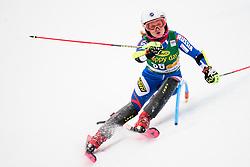 January 7, 2018 - Kranjska Gora, Gorenjska, Slovenia - Ekaterina Tkachenko of Russia competes on course during the Slalom race at the 54th Golden Fox FIS World Cup in Kranjska Gora, Slovenia on January 7, 2018. (Credit Image: © Rok Rakun/Pacific Press via ZUMA Wire)