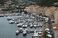 Bonifacio port <br /> France: Corsica, Bonifacio (most southerly town in Corsica and port for the Lavezzi Islands, which lie 10 km South East) France: Corsica, Bonifacio port