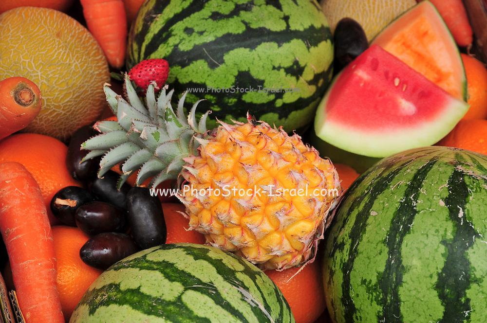 a display of fresh fruit