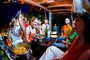 Dinner party, Cliffbase, Šuplja Stina, Hvar, Dalmatian Coast, Croatia
