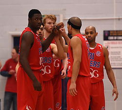 Bristol Flyers prepare to tip-off against Leeds Force - Photo mandatory by-line: Paul Knight/JMP - Mobile: 07966 386802 - 30/01/2016 - BASKETBALL - SGS Wise Arena - Bristol, England - Bristol Flyers v Leeds Force - British Basketball League