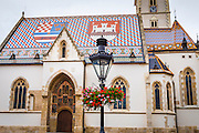 Saint Mark's Church in old town Gradec, Zagreb, Croatia