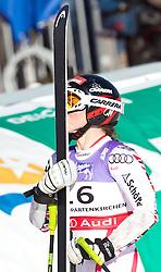08.02.2011, Kandahar, Garmisch Partenkirchen, GER, FIS Alpin Ski WM 2011, GAP, Lady Super G, im Bild jubel der  Siegerin und Weltmeisterin Elisabeth GOERGL (AUT) die Ihre Ski küsst // Winner and World Champion, Elisabeth GOERGL (AUT) celebrates and kisses her ski during Women Super G, Fis Alpine Ski World Championships in Garmisch Partenkirchen, Germany on 8/2/2011, 2011, EXPA Pictures © 2011, PhotoCredit: EXPA/ J. Feichter