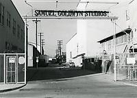 1972 Samuel Goldwyn Studio entrance in Hollywood